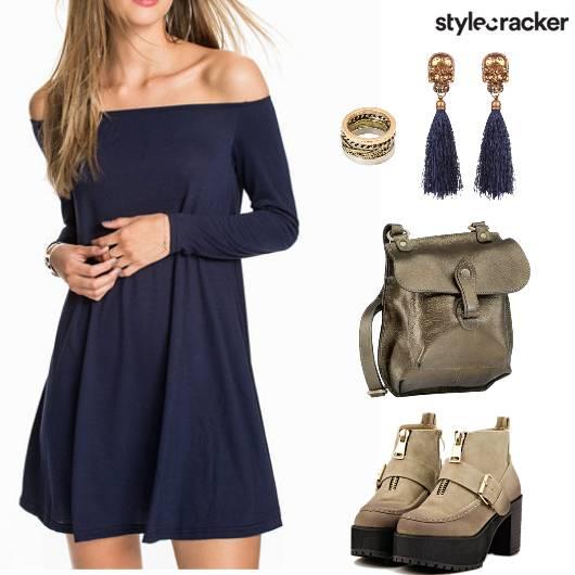 Casual OffShoulder Dress - StyleCracker