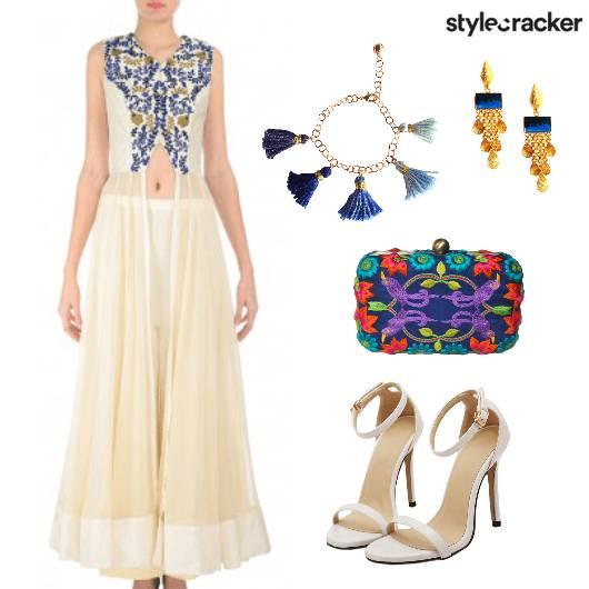Festive Anarkali PalazzoPants - StyleCracker