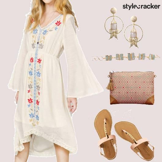 Casual Embroidered Dress - StyleCracker