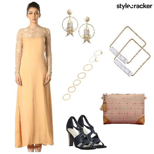 Maxidress Heels Clutch Party - StyleCracker