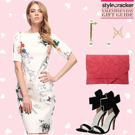DateNight Printed ShiftDress EnvelopeClutch  - StyleCracker