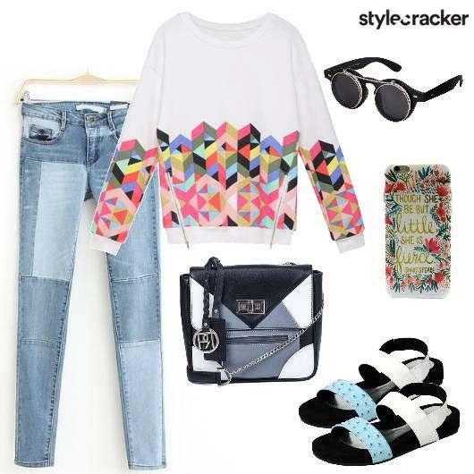College Casual GraphicSweatshirt - StyleCracker