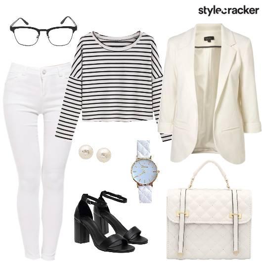 Stripes Blazer Work Office Day - StyleCracker