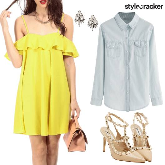 Offshoulder Dress Day Date - StyleCracker