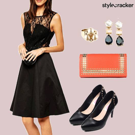 LBD DateNight LaceDetails ContrastClutch - StyleCracker