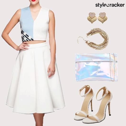 Day Date CropTop Skirt  - StyleCracker