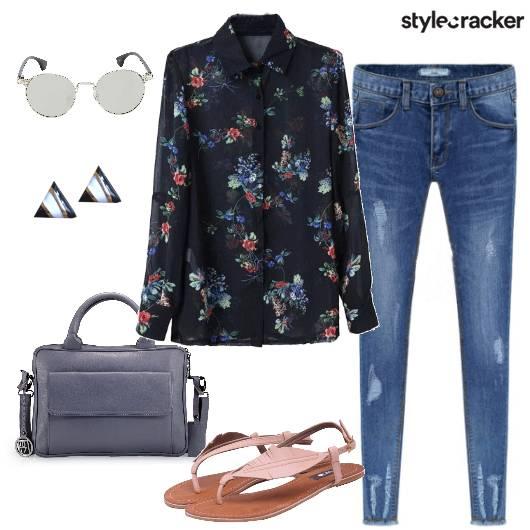 Casual PrintedShirt Denims - StyleCracker
