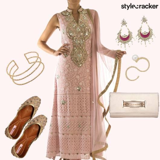 SalwarSuit StraightCut MirrorWork Earrings - StyleCracker