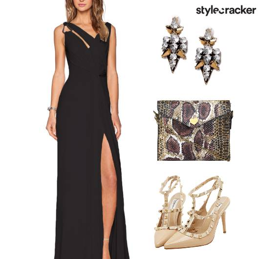 Party HighSlit MaxiDress Earrings - StyleCracker