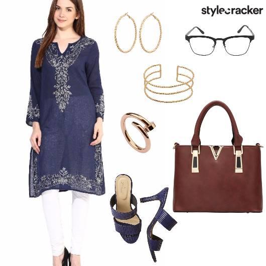 Kurta Jeans Indian Work  - StyleCracker