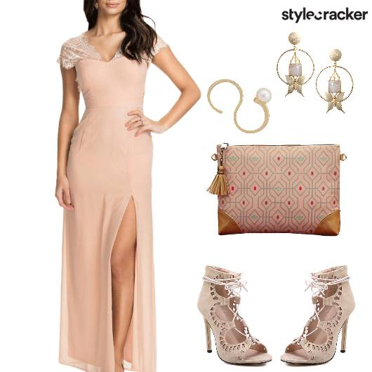 DateNight MaxiDress LaceDetails  - StyleCracker