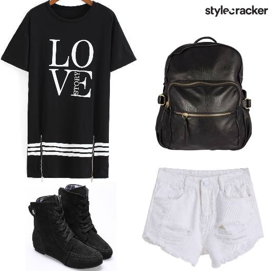 Casual College LongShirt Shorts - StyleCracker