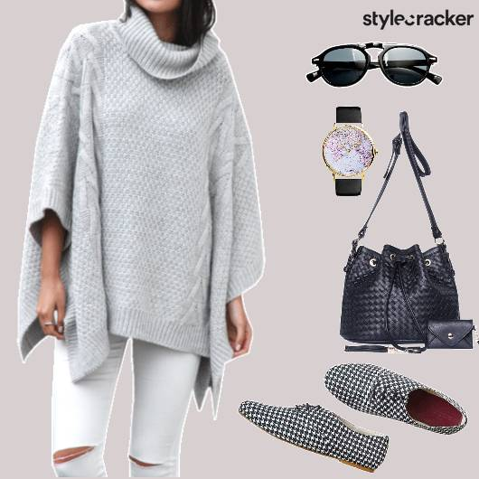 KnitCape Denims BucketBag - StyleCracker