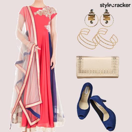 EthnicIndian Anarkali HandCuffs - StyleCracker