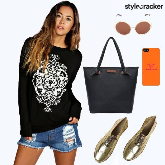 Casual College TShirt Shorts - StyleCracker