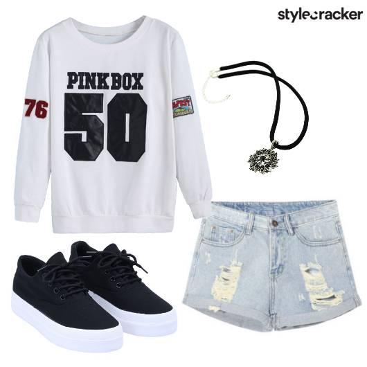 Pullover Denim Shorts Chill Casual - StyleCracker