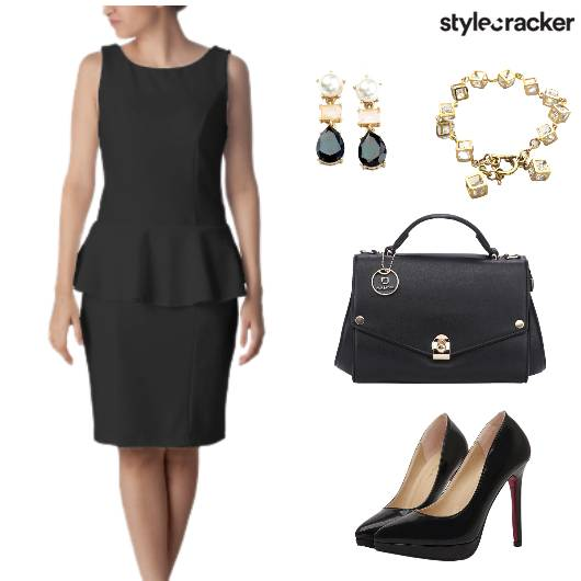 Work AMtoPM Peplum BlackOnly - StyleCracker