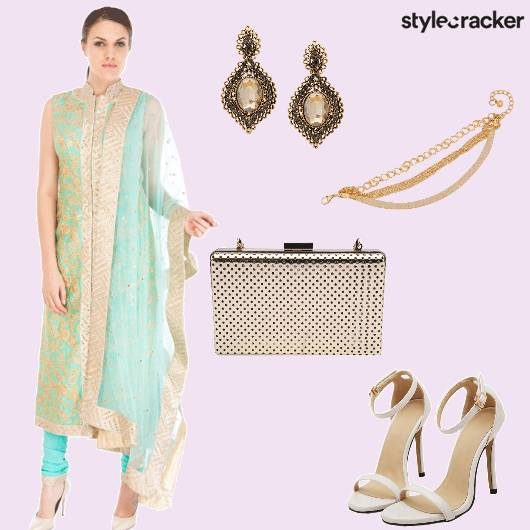 Anarkali Clutch Stilettos Earrings - StyleCracker