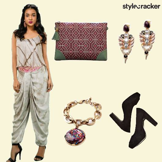 Dhoti Top Bracelet Heels - StyleCracker