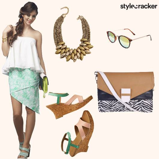 AsymetricalSkirt Top Statement Neckpiece - StyleCracker