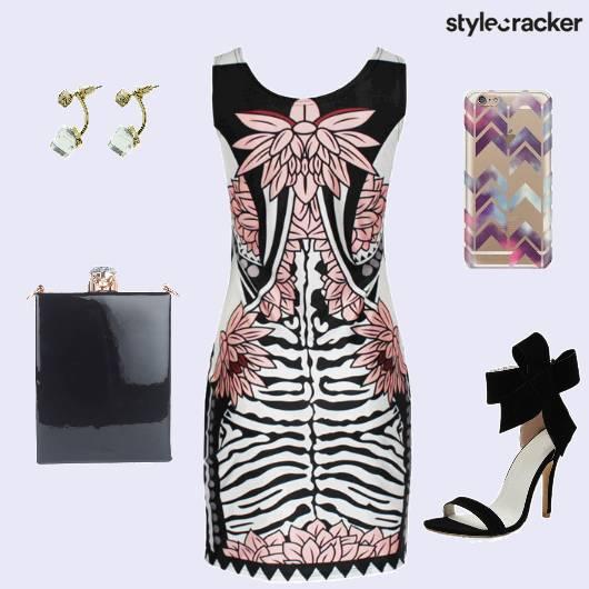 Printed Dress Stilettos Slingbag - StyleCracker