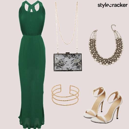 Gown StatementNecklace Dinner Party  - StyleCracker