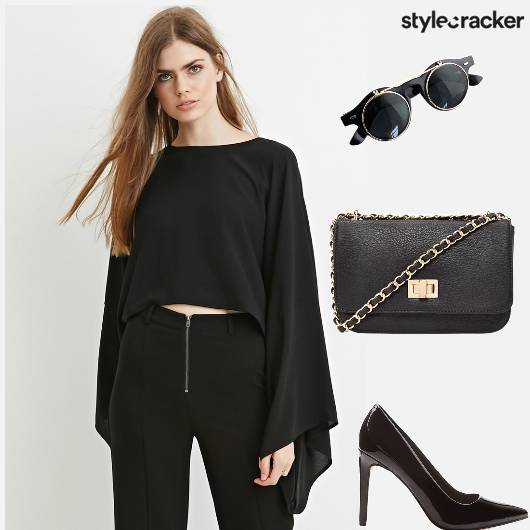 Bellsleeves Top Pumps Slingbag Sunglasses - StyleCracker