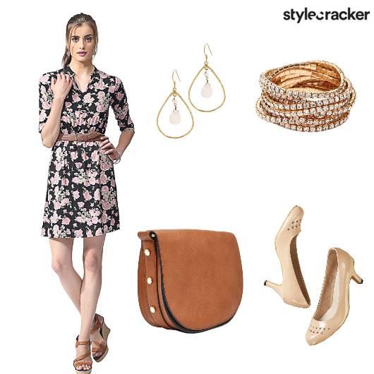 Floral Dress Slingbag Bracelet  - StyleCracker