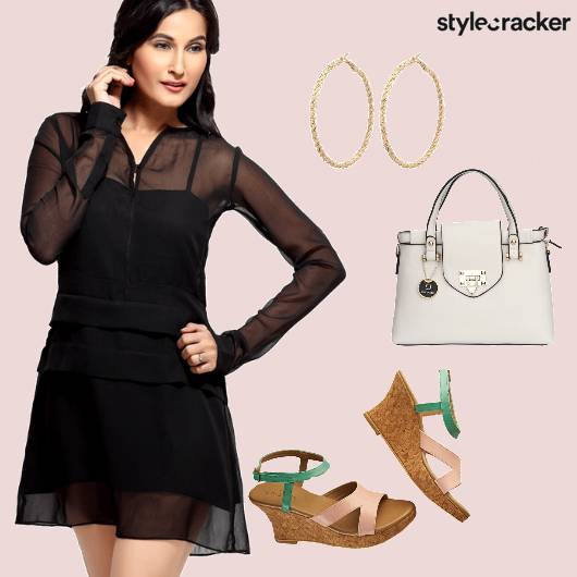 LBD Casual Wedges StructuredBag  - StyleCracker