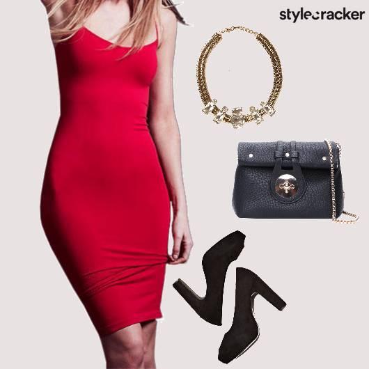 Dress BodyCon ValentinesDay StatementNecklace  - StyleCracker