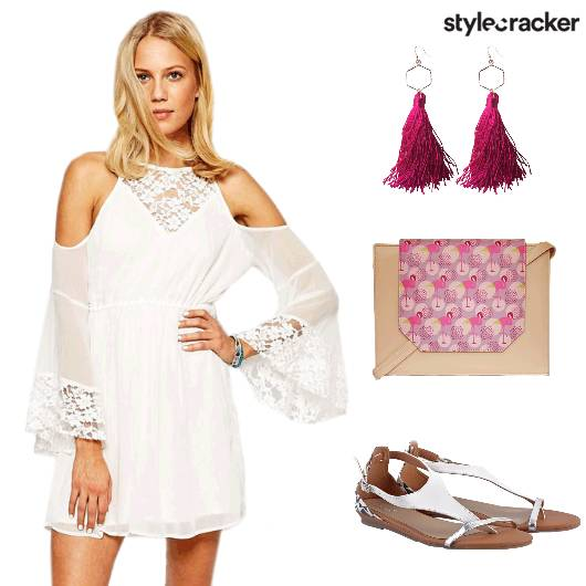 Lace PoolParty ColdShoulderDress - StyleCracker
