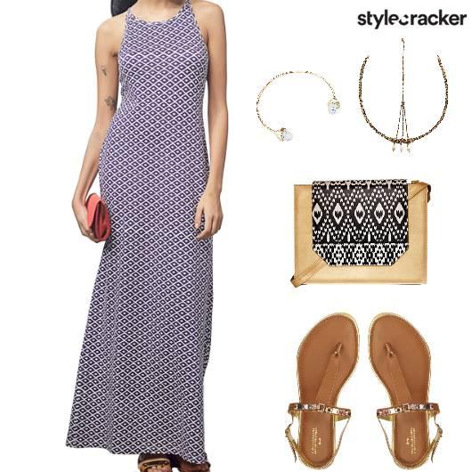 BeachParty MaxiDress TanFlats - StyleCracker