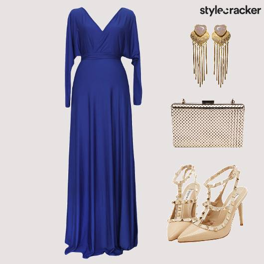 Dress Gown Clutch Shoes Accessories - StyleCracker