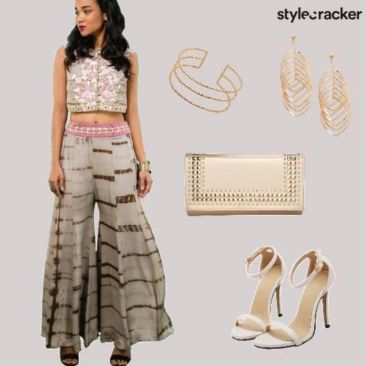 PallazoSet Indian Ethnic TieDye  - StyleCracker