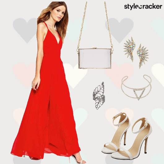 ValentinesDay DateNight MaxiDress Heels  - StyleCracker