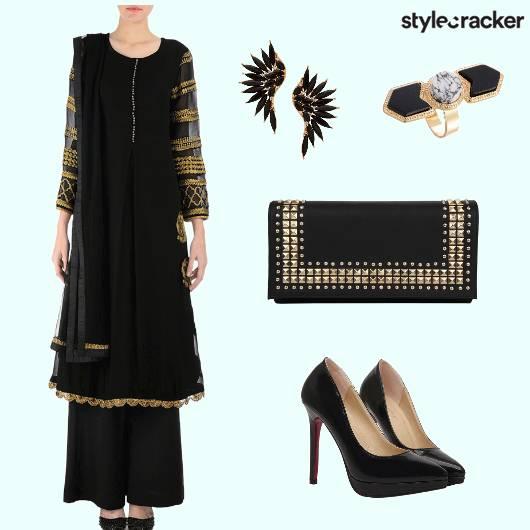 StatementRing Kurti Pallazos Stilettos - StyleCracker