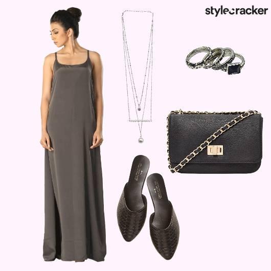 Gown Sling Rings Neckpiece - StyleCracker