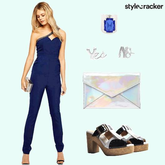 StatementRing Jumpsuit Clutch Earrings - StyleCracker