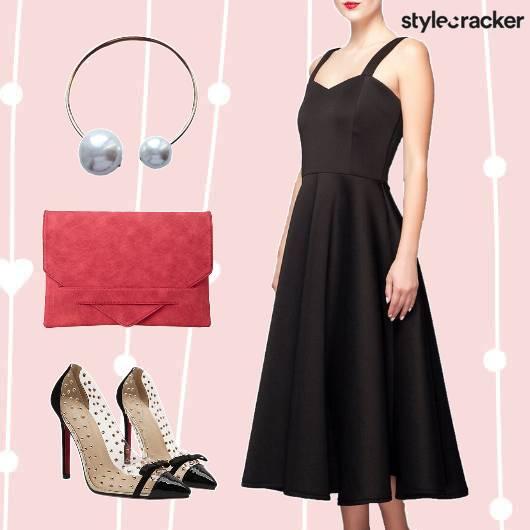 ValentinesDateNight MidiDress PearlChoker   - StyleCracker