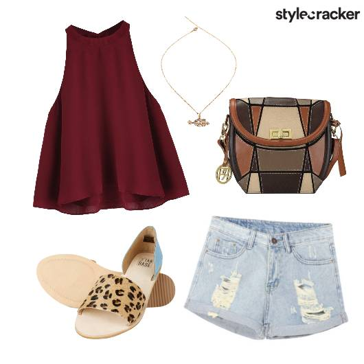 Casual Top Ripped Shorts - StyleCracker