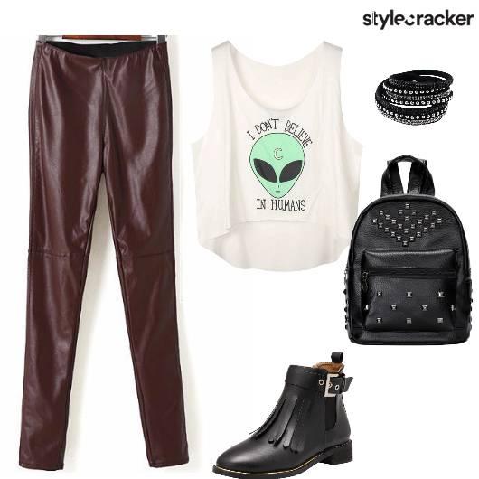 GigReady SuedePants StuddedBag - StyleCracker
