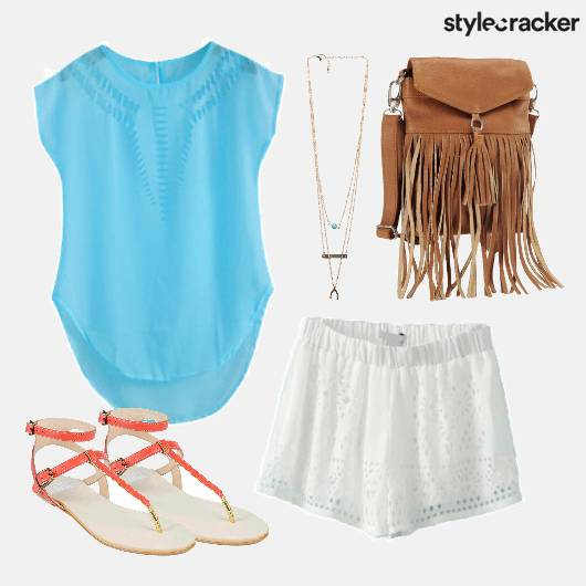 Shorts Cutout Top Fringe Bag  - StyleCracker