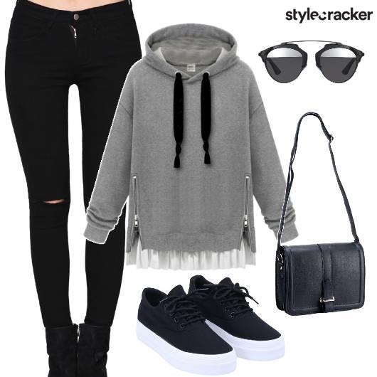 Hoodie College Winter Morning - StyleCracker