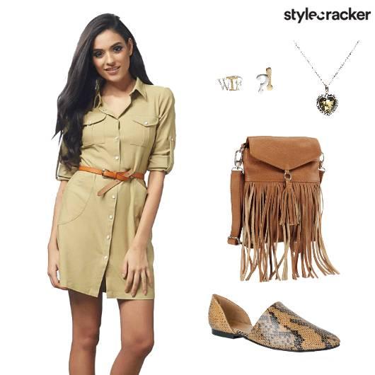 Travel ShirtDress FringeBag - StyleCracker