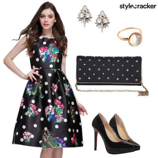 Floral Print Dress Date Night - StyleCracker