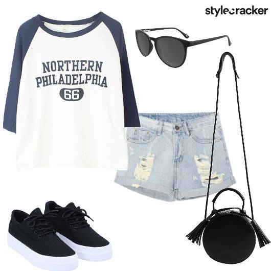 College Shorts Tshirt Casual - StyleCracker
