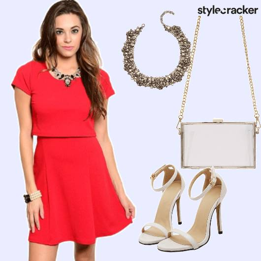 Red Crop Sling Necklace - StyleCracker