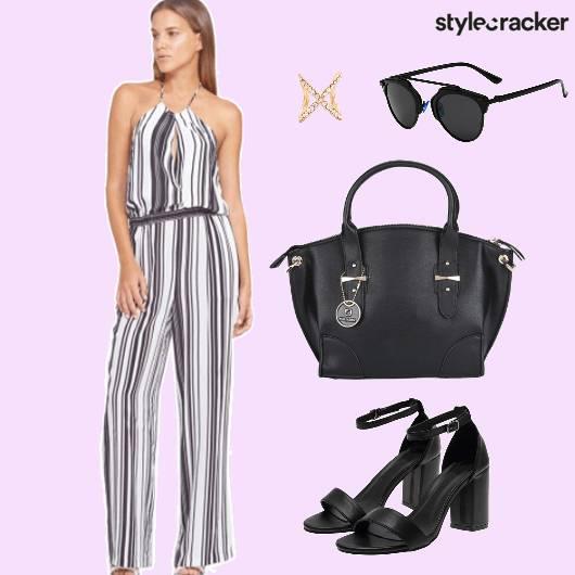 Striped Jumpsuit Brunch Day - StyleCracker