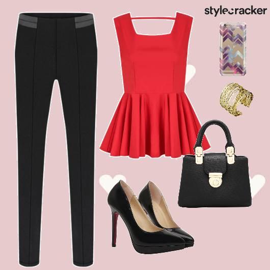 ValentinesDay Peplum Heels Bag  - StyleCracker