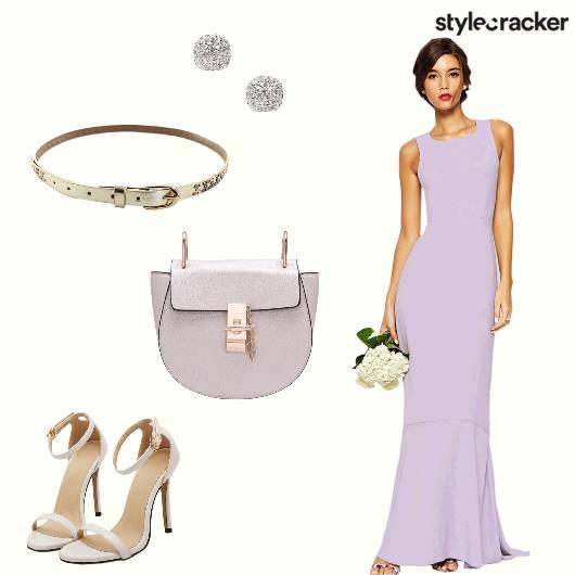 Gown Belt Earrings Heels - StyleCracker